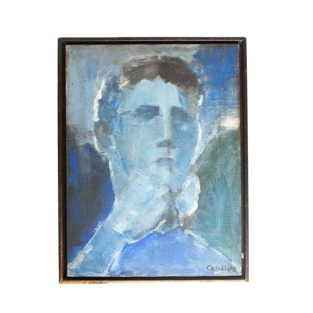 Abstract Portrait in Blue Hues - Image 1 of 3