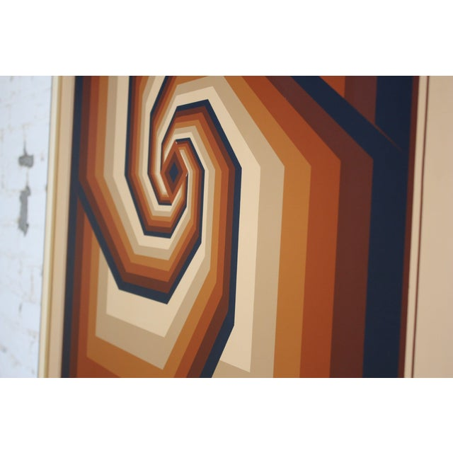 1980s Oil on Canvas Geometric Op Art by Letterman For Sale - Image 5 of 13