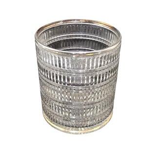 Vintage Art Deco Clear Pattern Glass Ice Bucket