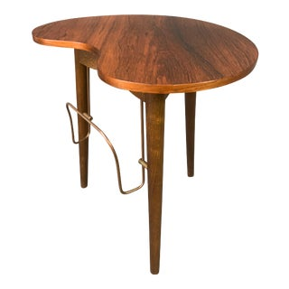 Vintage Danish Mid Century Modern Rosewood Side Table by Gorm Mobler For Sale