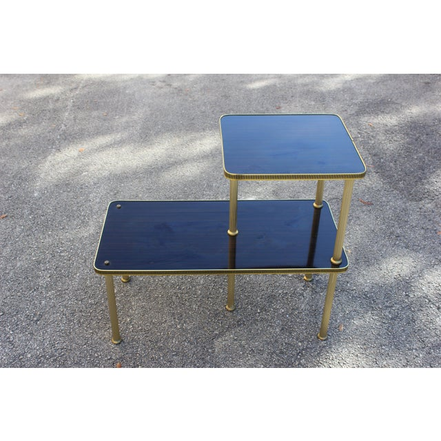 1940s Art Deco Mahogany and Brass Gueridon Side Table For Sale - Image 12 of 13