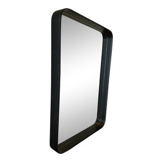 Adent Rectangular Leather Wall Mirror For Sale