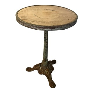 French Cast Iron and Marble Bistro Table