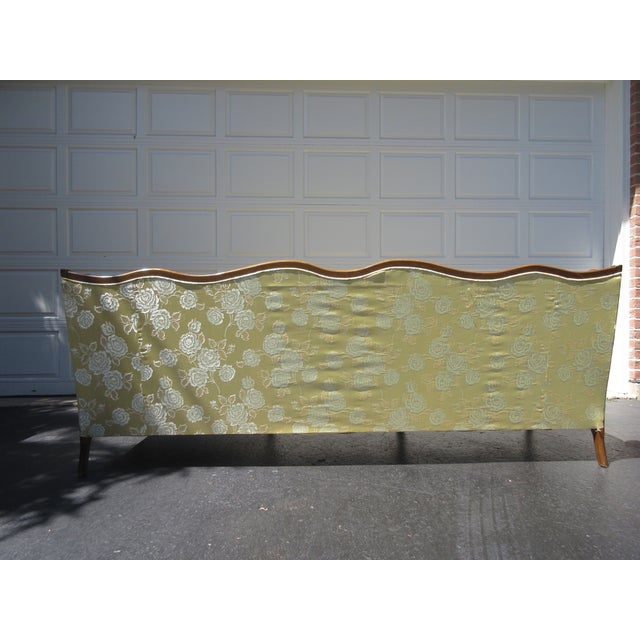 French-Style Yellow Rose Sofa - Image 4 of 8