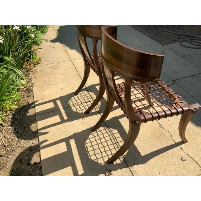 Klismos Walnut Chairs - a Pair For Sale In San Diego - Image 6 of 10