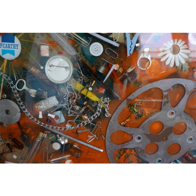1960s Double-Sided Collage Imbedded in Lucite For Sale - Image 5 of 7