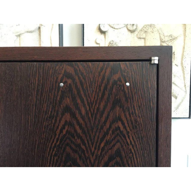 Christian Liaigre JMF Style Two-Door Wenge Wood Cabinet For Sale - Image 4 of 7