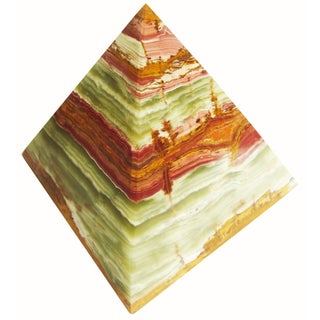 Large Alabaster Pyramid