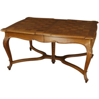 Table Louis XV Rococo French Vintage 1930 Oak For Sale