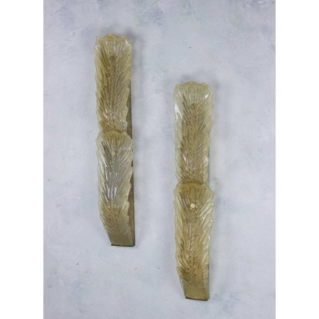 Pair of Large Gold Dust Murano Sconces - Image 3 of 11