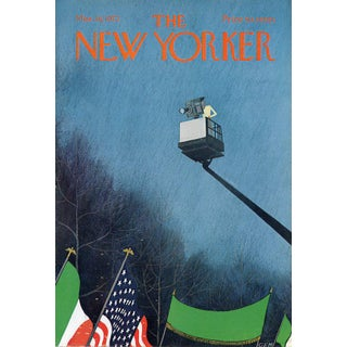 Vintage 1972 New Yorker Cover, March 18 (Charles Martin), St. Patrick's Day For Sale