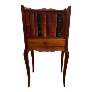 Vintage Fruit Wood Library Bookbinding Side Table For Sale