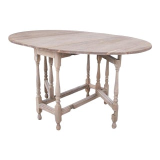 Antique Gate Leg Oak Table For Sale