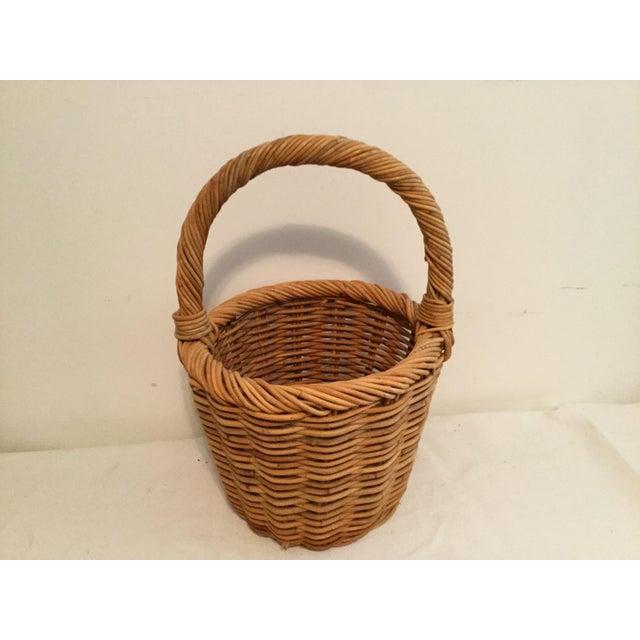 Beige Vintage Wishing Well Basket For Sale - Image 8 of 8