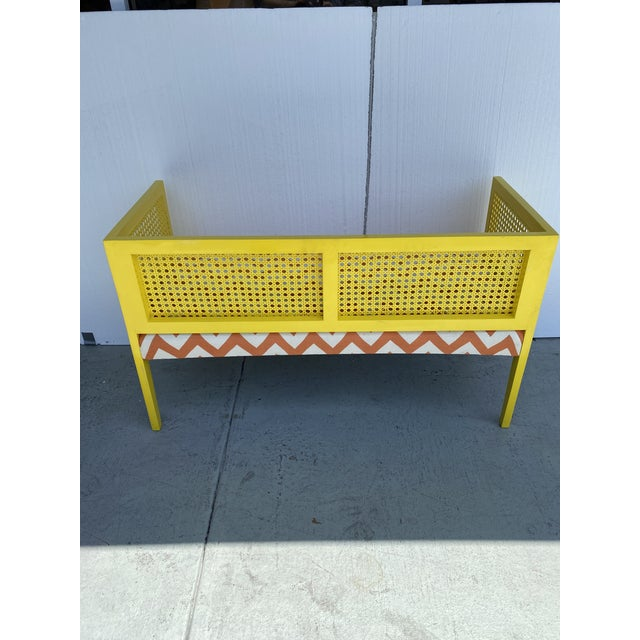 Midcentury Cane Loveseat For Sale - Image 9 of 13