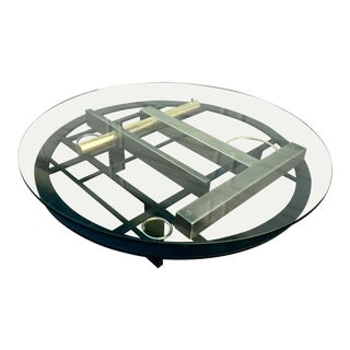 Postmodern Mixed Metal Kaizo Oto Style Coffee Table For Sale