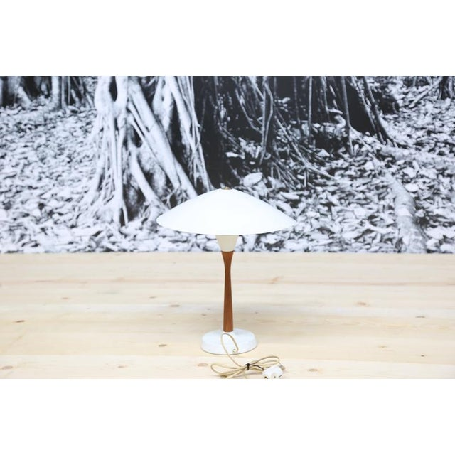 1950s Chinese Hat Style Scandinavian Table Lamp For Sale - Image 5 of 5