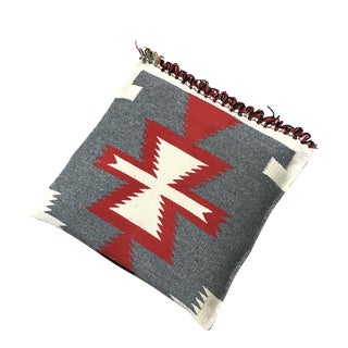 "1960s Vintage Navajo Style Pillow - 19"" X 19"" For Sale"