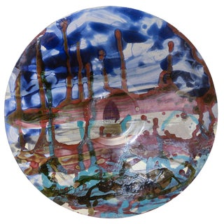 Jan Sivertsen: Unique Circular Glass Dish For Sale