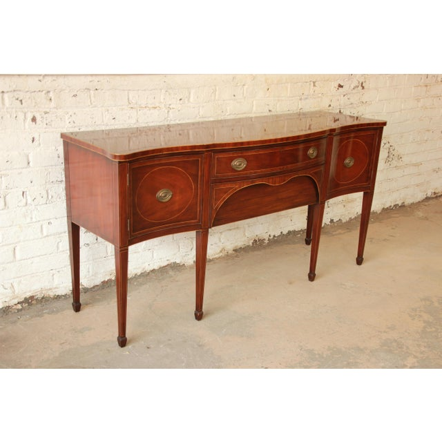 Kittinger Hepplewhite Inlaid Mahogany Sideboard Buffet For Sale - Image 5 of 11