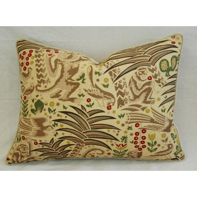 Custom Clarence House Gibbon Fabric Pillows- A Pair - Image 6 of 10