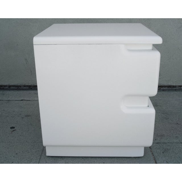 Contemporary White Lacquer Night Stands by Rougier - Pair For Sale - Image 3 of 6