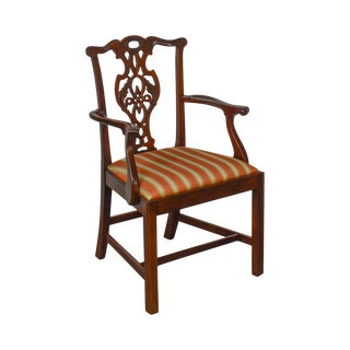 Baker Historic Charleston Collection Chippendale Style Mahogany Arm Chair