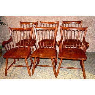 Vintage Pennsylvania House Colonial Style Cherry Dining Chairs - Set of 6 Preview