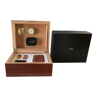 Vintage Colibri Humidor Set For Sale