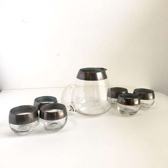 Mid Century Dorothy Thorpe Roly Poly Glasses & Pitcher Set of 7 For Sale - Image 6 of 6