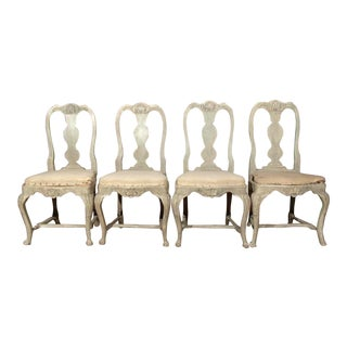 Swedish Rococo Dining Chairs For Sale