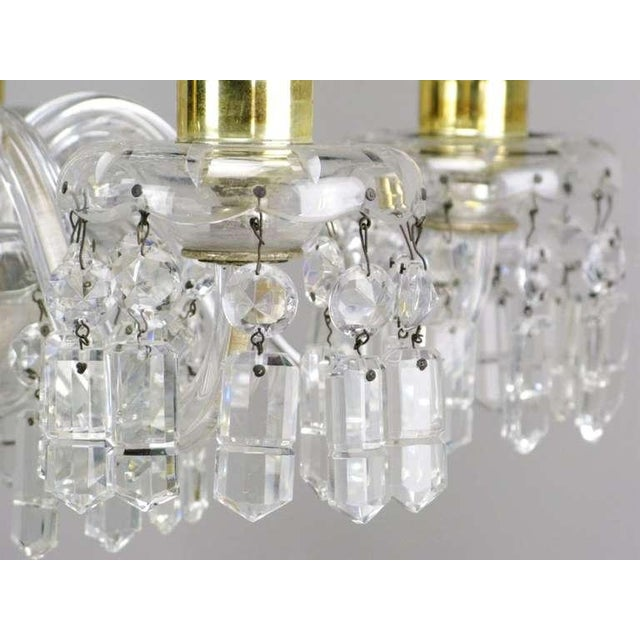 1940s Circa 1940s Lightolier Cut-Crystal Five Arm Chandelier For Sale - Image 5 of 9