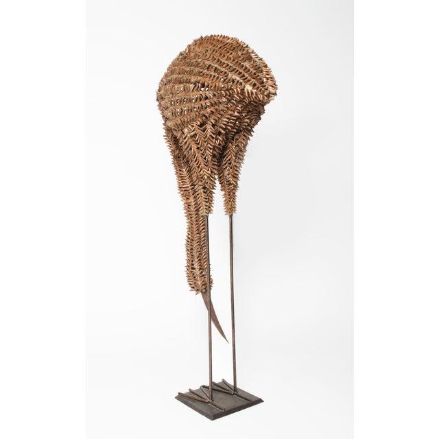 Bamboo and Metal Emu Sculpture - Image 4 of 5
