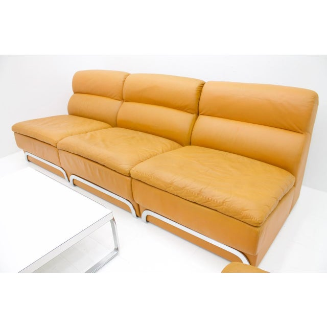 Modular Seating Group & Coffee Table Leather Sofa by Horst Brüning for Kill 1970 For Sale - Image 11 of 12