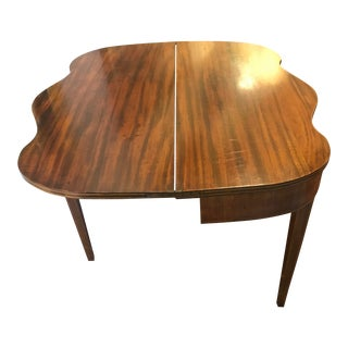 Mahogany Bridge Table With Scalloped Drop Down/Flip Top For Sale