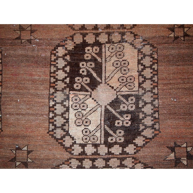 1900s handmade antique Afghan Ersari rug 8.6' X 11.8' For Sale In New York - Image 6 of 13
