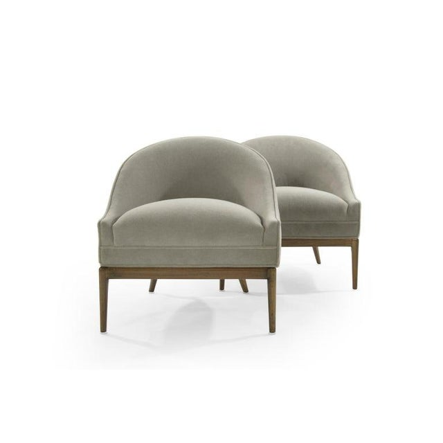 Wood Mid-Century Modern Lounge Chairs in Mohair, 1950s For Sale - Image 7 of 13