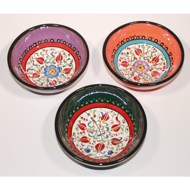 Turkish Hand Made Bowls - Set of 3 - Image 4 of 5