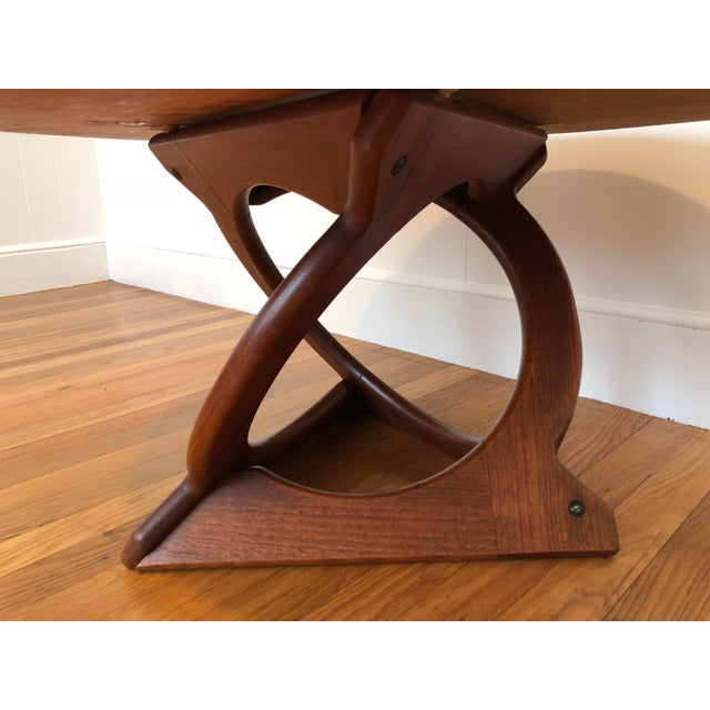 Danish Modern Vintage Mid-Century Soren Georg Jensen Danish Teak Coffee Table For Sale - Image 3 of 8