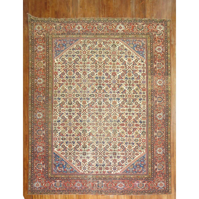 Mahal Sultanabad Rug. 10'8'' X 14'2''. For Sale - Image 9 of 9