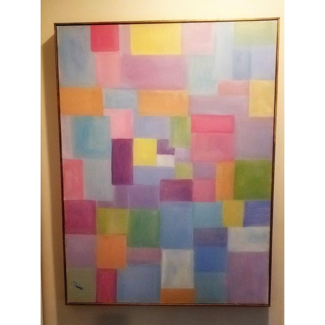 Patchwork is an oil painting with soft rectangular shapes that create a collage of soft and pleasing colors. Like the...
