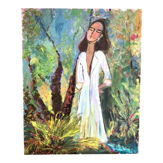 She Went Home, Oil Painting by Jj Justice For Sale