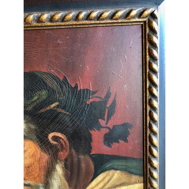 "Black ""Head of Bacchus"" Oil Painting by Ignacio Beller For Sale - Image 8 of 10"