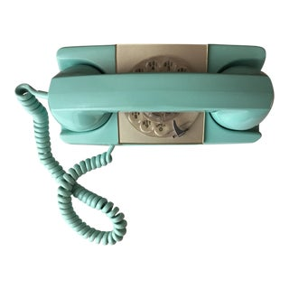 GTE Automatic Electric Aqua Starlite Princess Style Rotary Telephone For Sale