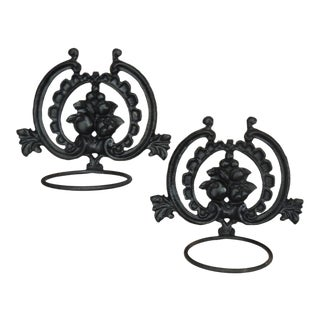 Vintage Wall Plant Holders Wall Towel Holder - a Pair For Sale