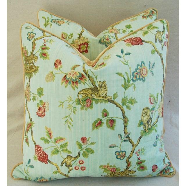 Italian Scalamandre Fleur Des Indes Pillows - Pair - Image 2 of 11
