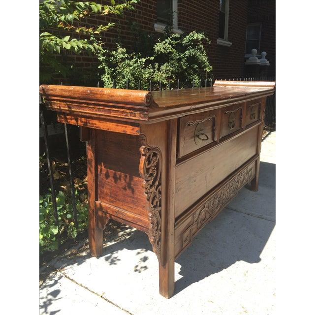 Antique Carved Wood Console - Image 3 of 10