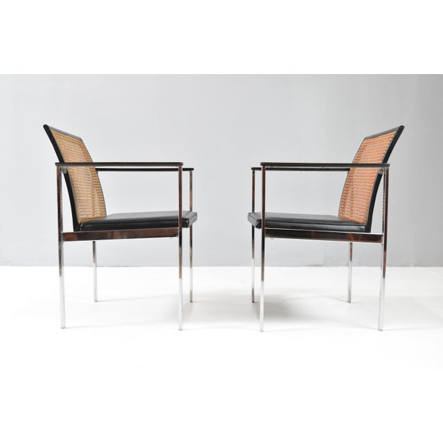 Mid-Century Chrome & Cane Dining Chairs by Lane For Sale In Orlando - Image 6 of 13
