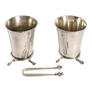Michael Aram Hands and Feet Ice Buckets & Tongs - a Pair