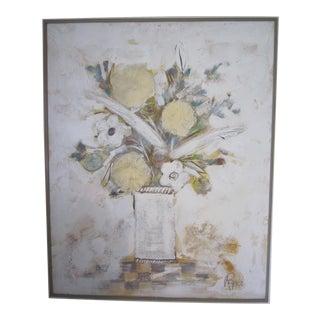 Lee Reynolds Still Life Painting, Framed For Sale